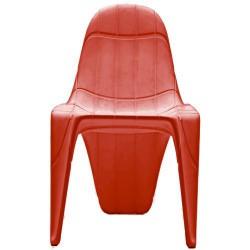 F3 Cadeira vermelha de empuxo