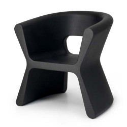 Борозду PAL черный стул Vondom