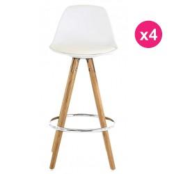 Set of 4 chairs work white oak KosyForm base Plan
