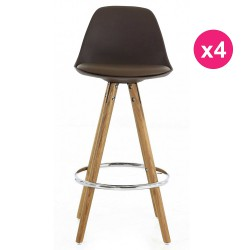 Set of 4 chairs Mole base oak KosyForm work Plan