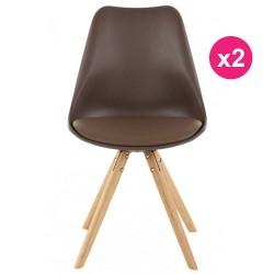 Set of 2 chairs Mole base oak KosyForm