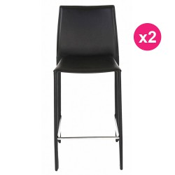 Set of 2 chairs boreal black work Plan KosyForm