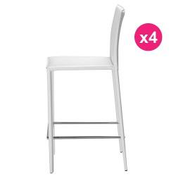 Set of 4 chairs white KosyForm work Plan