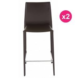 Set of 2 chairs chocolate KosyForm work Plan