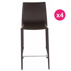 Set of 4 chairs chocolate KosyForm work Plan
