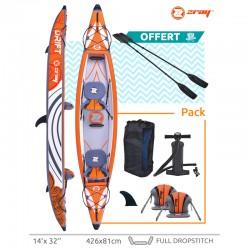 Canoe inflatable Zray KAYAK DRIFT with 2 paddles