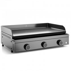 Plancha gas Forge Adour Origin 3 8700 W 75 cm steel plate in enamelled cast iron burners