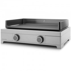 Plancha gas Forge Adour Modern 60 Inox 2 7000 W plate in enamelled cast iron burners