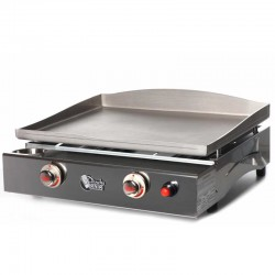 Plancha Tonio Lagoa 2 lights box and plate stainless steel gas