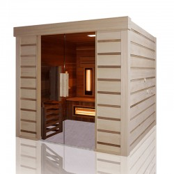 Traditional sauna hybrid Combi Holl's disabled Access