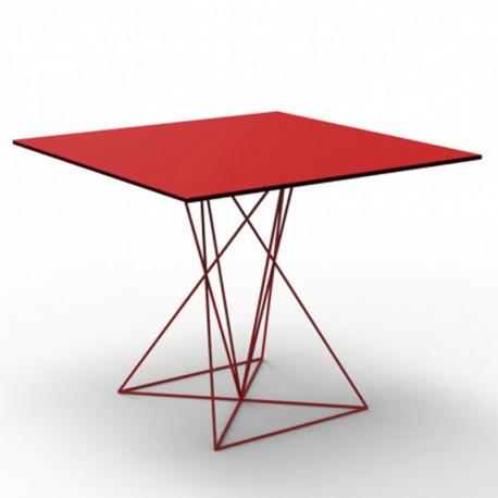 Table Faz Vondom Inox Rouge 100x100xH72