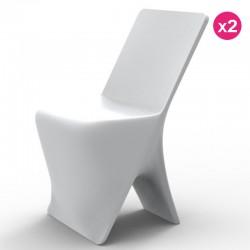 Set of 2 chairs Vondom design Sloo white