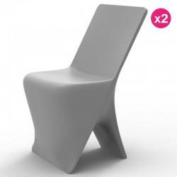 Set of 2 chairs Vondom design Sloo grey