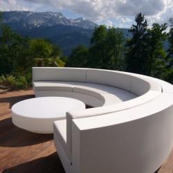 Low table Vondom design Vela round white