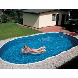 Piscine Ovale Azuro Luxe PoolMarina Autoportante ou Enterrée 7.3x3.7x1.2