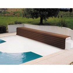 Thermodeck 10x5 Large automatic pool cover with aluminum and wood coil