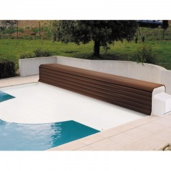 Thermodeck 11x5 Large automatic pool cover with aluminum and wood coil