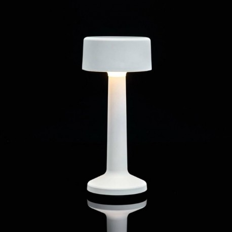 Luminaire de Table Imagilights Led Sans Fil Collection Moments Blanc Cylindre