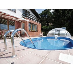 Oval Pool Ibiza Family 800 Luxury Buried