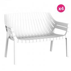 Lot de 4 sofas Vondom Spritz blanc