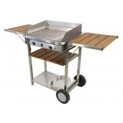 Plancha gas Stainless Baila 5KW TONIO on cart - SavorCook Selects